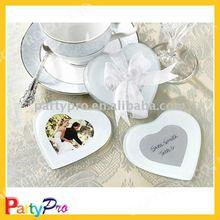 2012 hot sale love glass cup mat wedding favor
