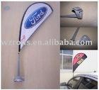patented mini car window teardrop flag