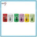 cor do revestimento de metal decorativa de vidro frascos de especiarias