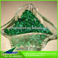 decoration artificial flower water ball dark green
