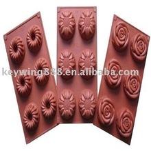 Rose shape silicone molds bakeware