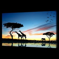 Latest decorative framed scenery printed painting