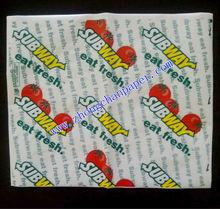 28-60gsm hamburger package paper, food grade, greaseproof, 100% wood pulp.