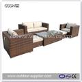 2013 ao ar livre do rattan do pe sofá de vime conjunto