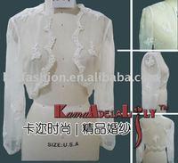 1979 Gorgeous Organza emrboidery wedding long sleeve jacket