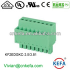factory direct PCB pluggable terminal block ,3.5mm/3.81mm pitch connector plug vertical wire connector,2 pin connector, female