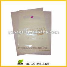 2012 guangzhou ldpe die cut plastic bag factory