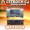 WITSON Special Car DVD Player For CITROEN C4(2004-2009) citroen c4 with Digital 800x480 Touch Screen