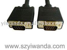 Gold planted VGA Cable,rs232 to vga adapter