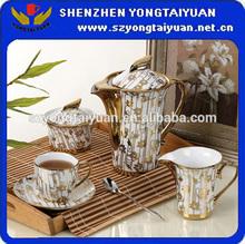 Gold Plated Arabic Porcelain Tea Set