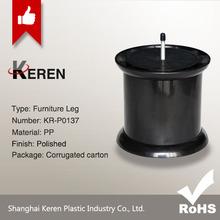 rubber plastic black bed legs