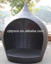 ourdoor rattan/wicker modern sun lounger bed