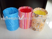 Colorful laundry bag