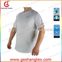 Quick Dry Dri Fit Antimicrobial mens boys plain white tee shirts