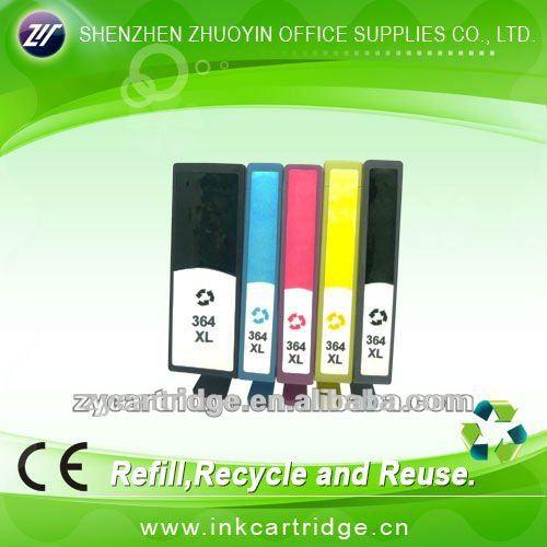 oficina de suministro de tinta 364xl cartucho con chip para hp