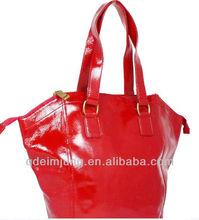 red new pu lady handbags cheap bags