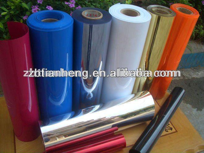 PVC sheet material plastic film produce in factory