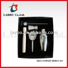 350ml 5pcs cocktail shaker bar set
