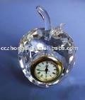 Fashion apple shape crystal clock