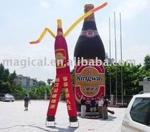 Inflatable bottle advertising air dancer