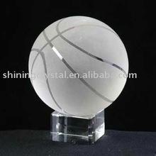 pretty crystal ball trophy for basketball