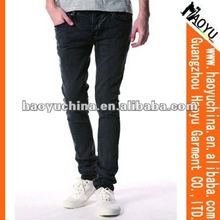 Black Spray Skinny Men Jeans (HY1120)