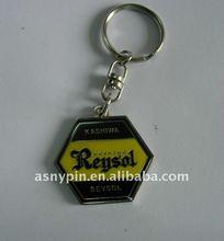 metal polished enamel key chains