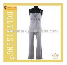women's leisure wear,grey pajamas set ,sleepwear