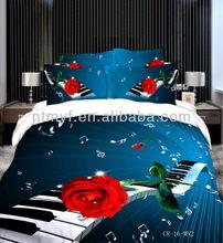 3d bedding set /rose printed bedding set/photo print bedding set