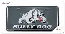Car fun gift dog reflective aluminum license plate