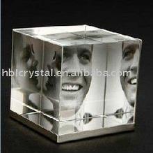 fashion design cube crystal photo frame