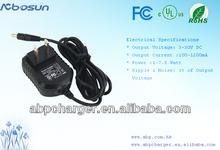5V 500ma,6V 500ma,9V 500ma universal ac/dc adapter with CE,US,BS,AUS,KC,PSE,CN plugs