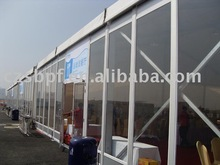 Party tent with glasswalls (15x40m)