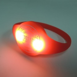 led pulse motion sensor light up silicon wristbands