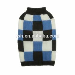 Blue /Black /White Plaid Turtleneck Pet Suit RSH498