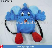 wholesales fashion beautiful cute plush animal kids school backpack