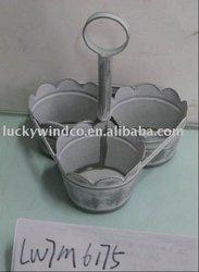 glue metal mini metal flower pot