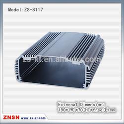 ZS-8117 black aluminum enclosure for electronic