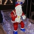 2011 nuevo padre de navidad muñeco de nieve de acrílico de la luz