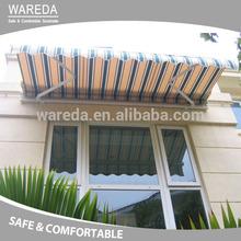 Aluminum alloy frame motorized retractable awning