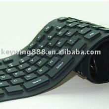 85keys silicone waterproof black wireless keyboard