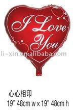 foil balloon in heart design
