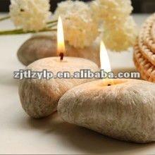 2012 zhongyi stone shaped candle