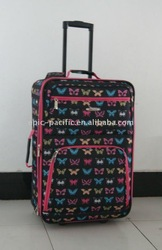 GM11067 fashion lady colorful printing trolley travel bag suitcase travelling carry case luggage set