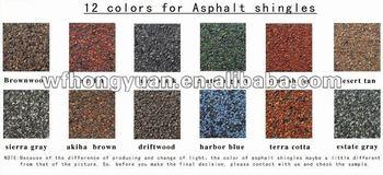 12 colors asphalt shingle roofing
