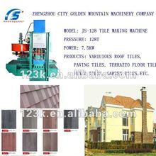 JS-400 cement/concrete terrazzo roof tile machine