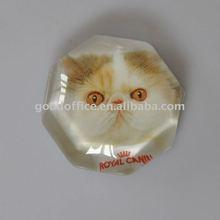 (MOQ 1000 pcs)diamond crystal glass fridge magnet