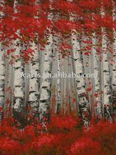 Tree Decorative high quality birch theme wall decor art painting