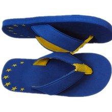 funny printing EVA blue flip flop