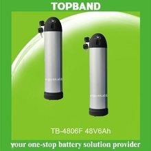 E-Bike lithium battery pack lifepo4 48V6Ah+BMS with aluminiium case TB-4806F